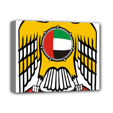 Emblem Of The United Arab Emirates Deluxe Canvas 14  X 11  by abbeyz71