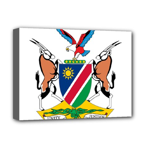 Coat Of Arms Of Namibia Deluxe Canvas 16  X 12   by abbeyz71