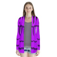 Halloween   Purple Frankenstein Drape Collar Cardigan by Valentinaart