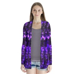 Black And Purple Pattern Drape Collar Cardigan by traceyleeartdesigns
