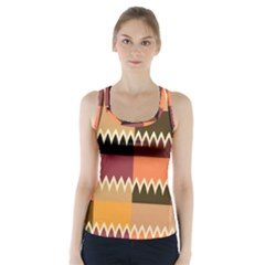 Chevrons In Squares                     Racer Back Sports Top