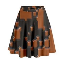 Brown Pieces                                                                                                    High Waist Skirt