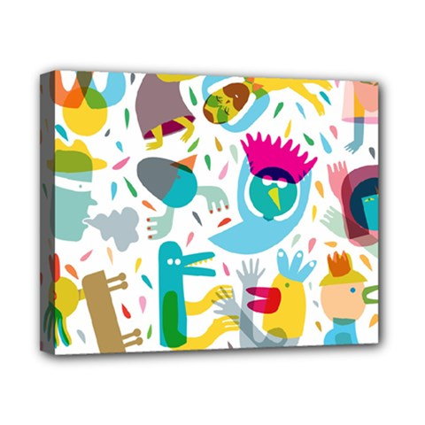 Colorful Cartoon Funny People Canvas 10  X 8  by AnjaniArt
