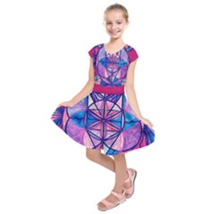 Feminine Interconnectedness   Kids  Short Sleeve Dress by tealswan