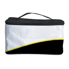 Yellow, black and white Cosmetic Storage Case by Valentinaart
