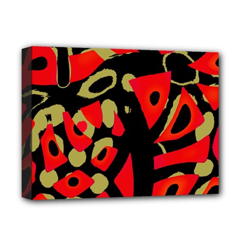 Red Artistic Design Deluxe Canvas 16  X 12   by Valentinaart