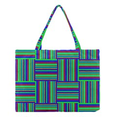 Fabric Pattern Design Cloth Stripe Medium Tote Bag