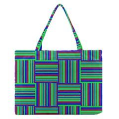 Fabric Pattern Design Cloth Stripe Medium Zipper Tote Bag