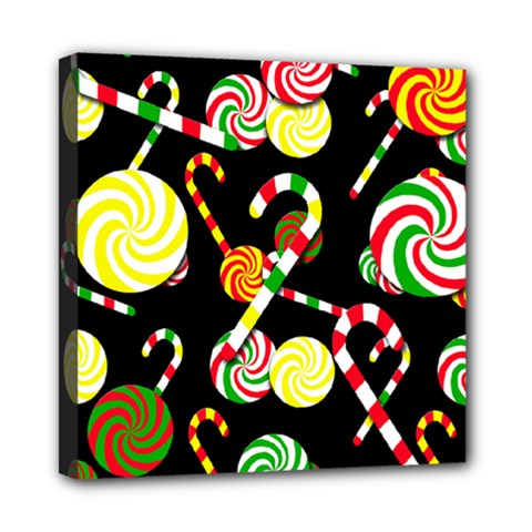 Xmas candies  Mini Canvas 8  x 8  by Valentinaart