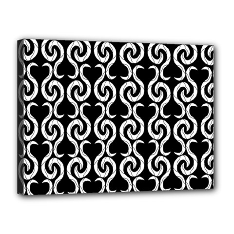 Black And White Pattern Canvas 16  X 12  by Valentinaart