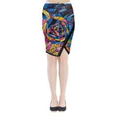 Kindred Soul   Midi Wrap Pencil Skirt by tealswan