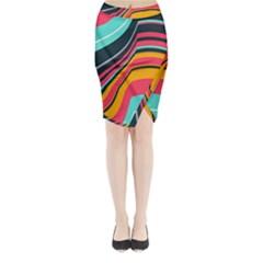 Midi Wrap Pencil Skirt