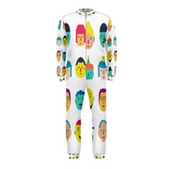 Face People Man Girl Male Female Young Old Kit Onepiece Jumpsuit (kids) by AnjaniArt