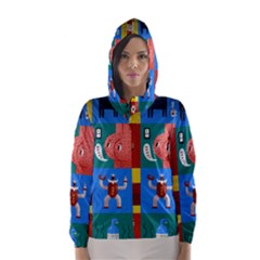 The Oxford Dictionary Illustrated Hooded Wind Breaker (Women) by Onesevenart