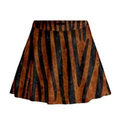 Skin4 Black Marble & Brown Marble Mini Flare Skirt