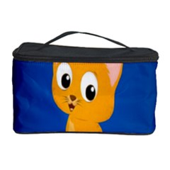 Cute Cat Cosmetic Storage Case by AnjaniArt