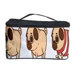 Cute Dog Cosmetic Storage Case by AnjaniArt
