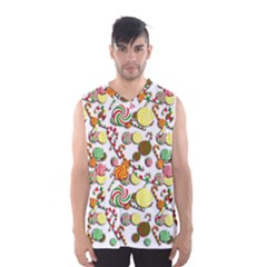 Xmas Candy Pattern Men s Basketball Tank Top by Valentinaart