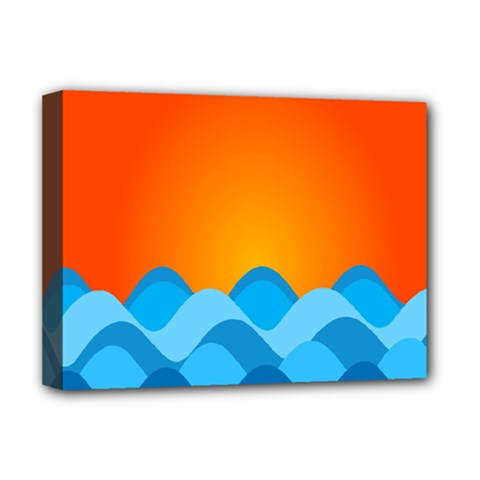 Water Orange Deluxe Canvas 16  X 12   by AnjaniArt