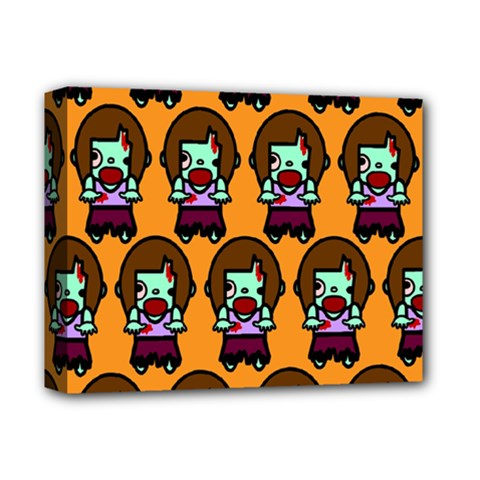 Zombie Woman Fill Orange Deluxe Canvas 14  X 11  by AnjaniArt