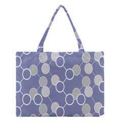 Round Blue Medium Tote Bag by AnjaniArt