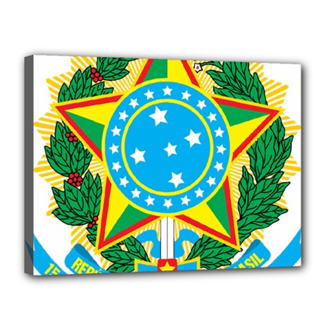 Coat Of Arms Of Brazil, 1968 1971 Canvas 16  X 12  by abbeyz71