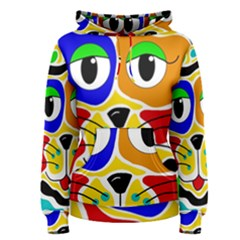 Colorful Cat Women s Pullover Hoodie