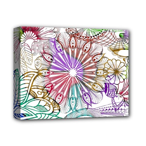Zentangle Mix 1116b Deluxe Canvas 14  X 11  by MoreColorsinLife