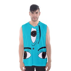 Eyes Three Blue Men s Basketball Tank Top by AnjaniArt