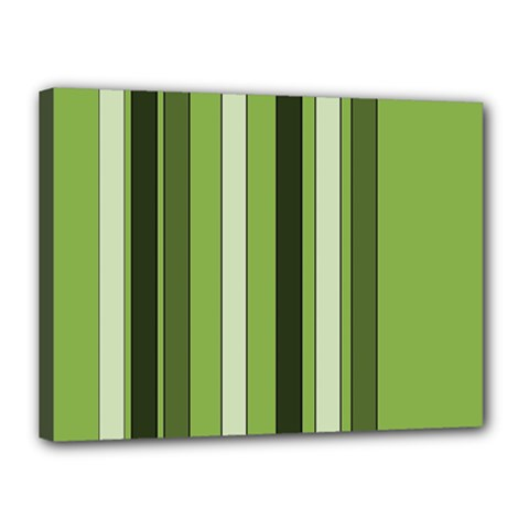 Greenery Stripes Pattern 8000 Vertical Stripe Shades Of Spring Green Color Canvas 16  X 12  by yoursparklingshop