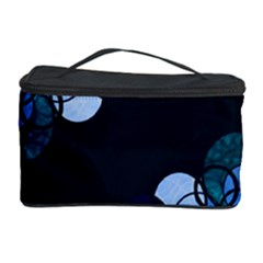 Blue bubbles Cosmetic Storage Case by Valentinaart