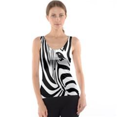 Animal Cute Pattern Art Zebra Tank Top