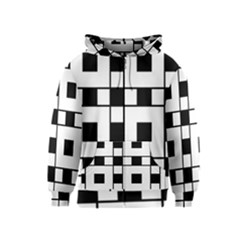 Black And White Pattern Kids  Zipper Hoodie