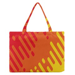 Color Minimalism Red Yellow Medium Zipper Tote Bag by AnjaniArt