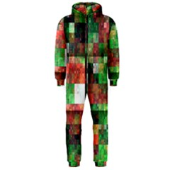 Paper Background Color Graphics Hooded Jumpsuit (men)