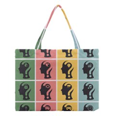 Question Face Think Medium Tote Bag by Jojostore