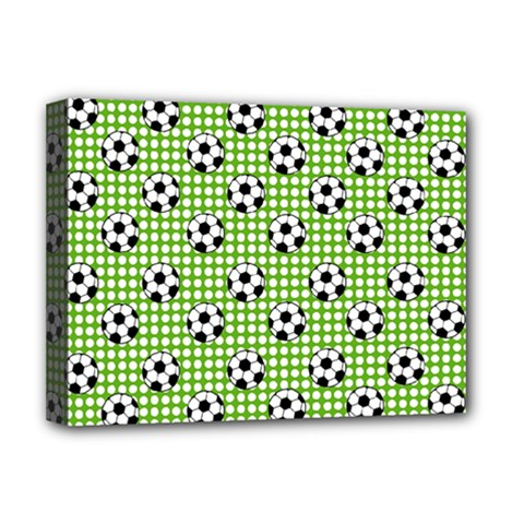 Green Ball Deluxe Canvas 16  X 12   by Jojostore