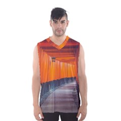 Architecture Art Bright Color Men s Basketball Tank Top by Amaryn4rt