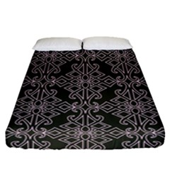 Line Geometry Pattern Geometric Fitted Sheet (queen Size)