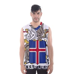 Coat Of Arms Of Iceland Men s Basketball Tank Top by abbeyz71