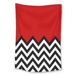 Chevron Red Large Tapestry by Jojostore