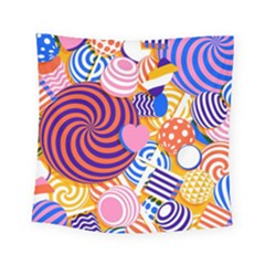 Canddy Color Square Tapestry (small) by Jojostore
