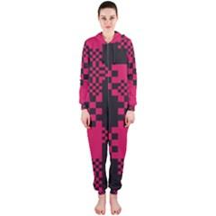 Cube Square Block Shape Creative Hooded Jumpsuit (ladies)