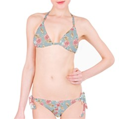 Background Page Template Floral Bikini Set