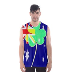 Irish Australian Australia Ireland Shamrock Funny St Patrick Flag Men s Basketball Tank Top by yoursparklingshop