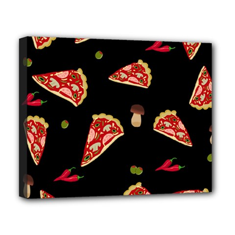 Pizza Slice Patter Deluxe Canvas 20  X 16   by Valentinaart