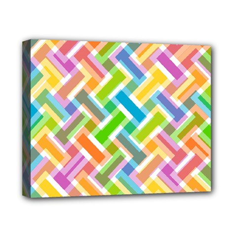 Abstract Pattern Colorful Wallpaper Canvas 10  X 8  by Amaryn4rt