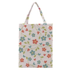 Abstract Vintage Flower Floral Pattern Classic Tote Bag
