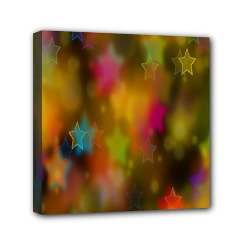 Star Background Texture Pattern Mini Canvas 6  X 6  by Amaryn4rt