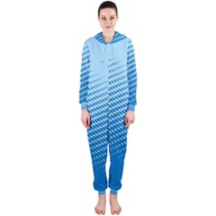 Blue Dot Pattern Hooded Jumpsuit (ladies)